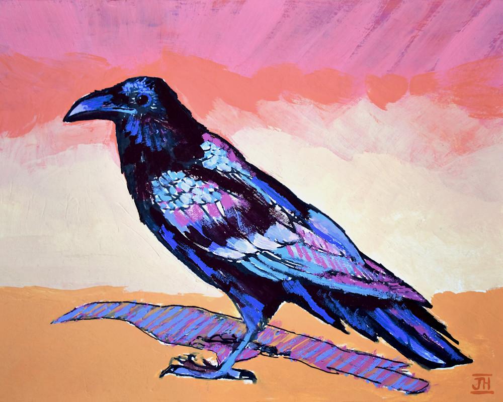 Raven Study, art by Jenny Hahn