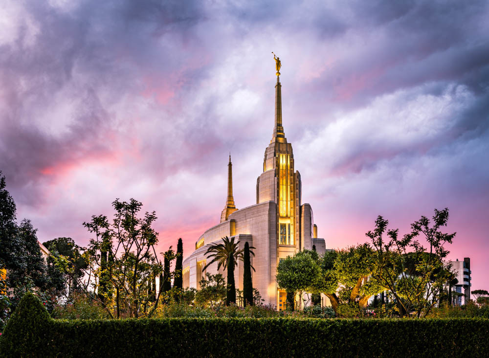 Rome Italy Temple - Pink Sky