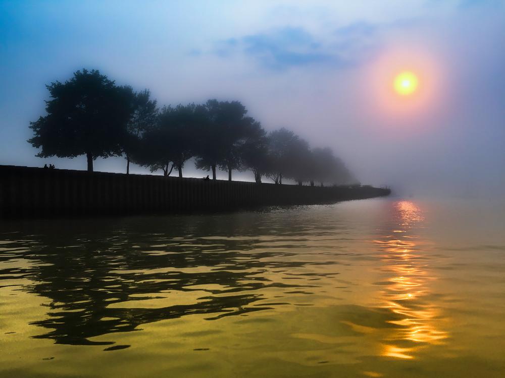 Fog On The Marina Art   Mark Stall IMAGES