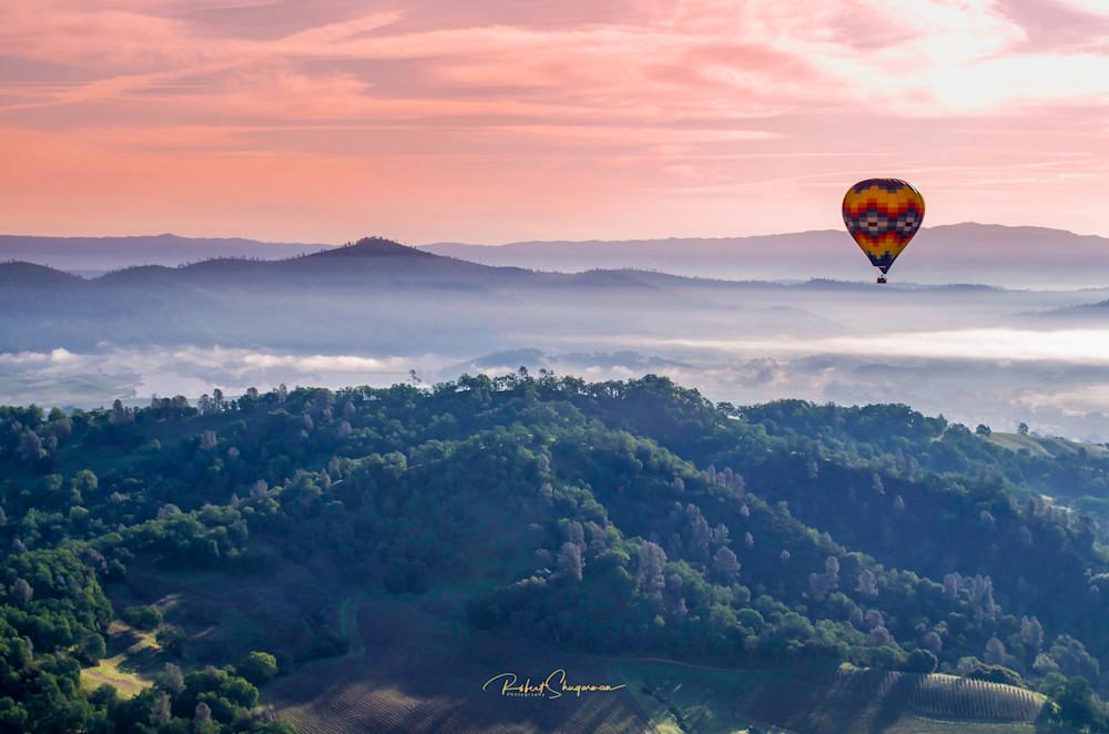 Hot Air Balloon Series: Sunrise Over Napa Valley | Shop Prints | Robert Shugarman Photography