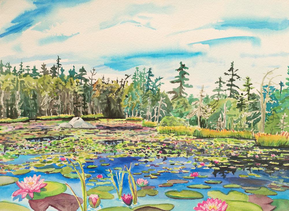 Stonington Maine Ames Pond Art for Sale