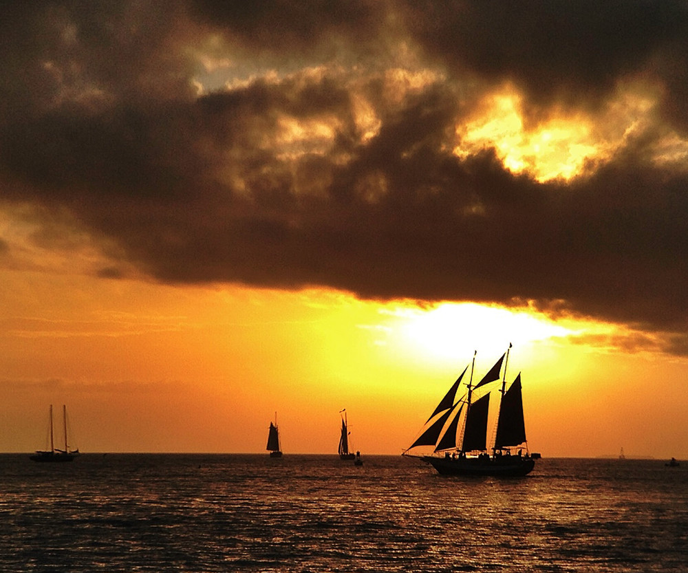 A Schooner Sunset