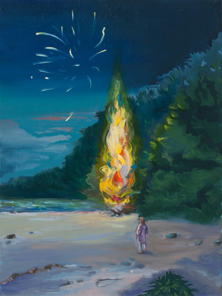 Midsummer Bonfire Art | Trine Churchill