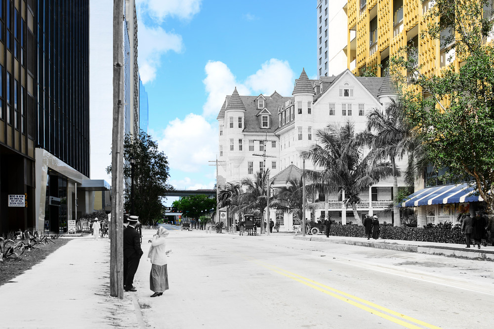 Flagler Looking West From Miami Avenue Art | Mark Hersch Photography