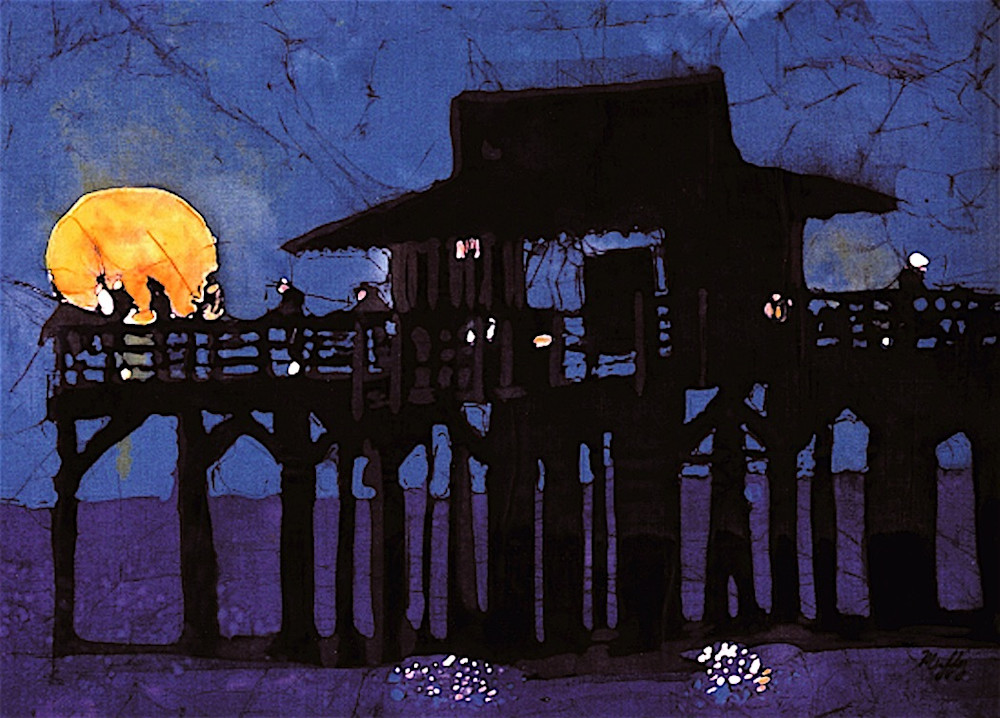 """Neapolitan Night ""is a painting that was created by artist Muffy Clark Gill"