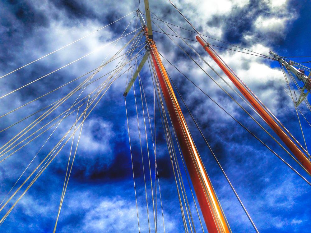 Key West Mast Lines Art | Mark Stall IMAGES
