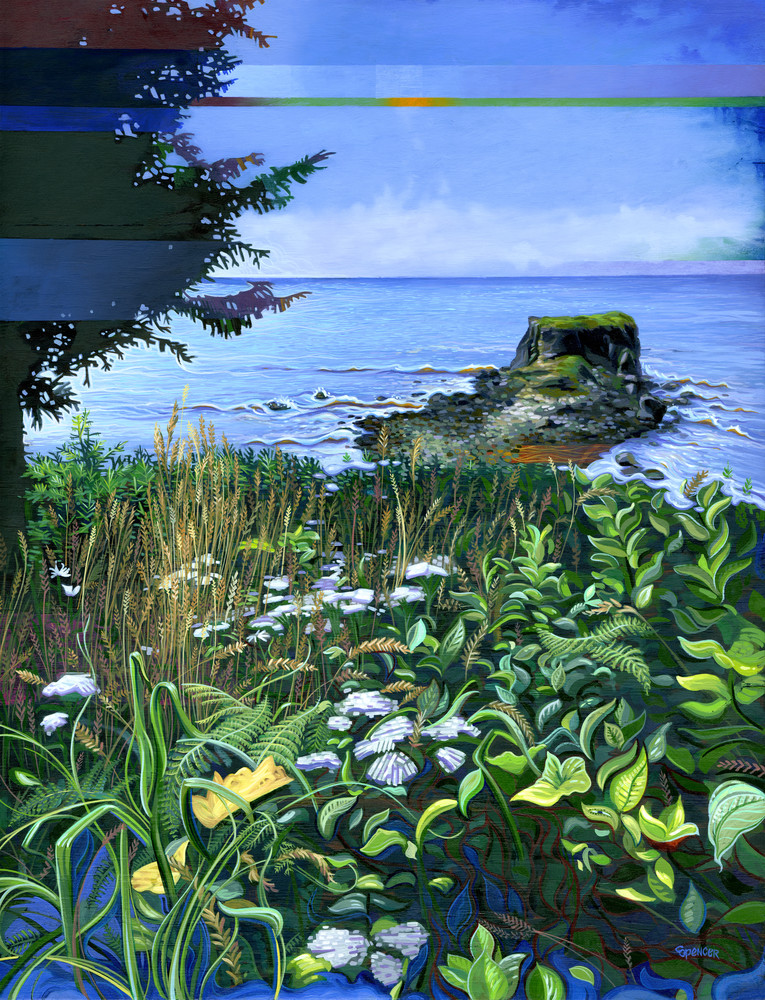 In the Weeds by Southern Oregon Coast painter Spencer Reynolds