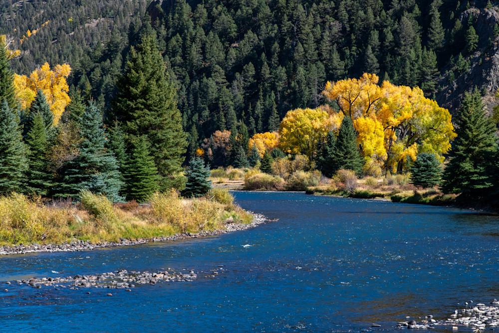 Fall on the Rio Grande River - Colorado photography prints