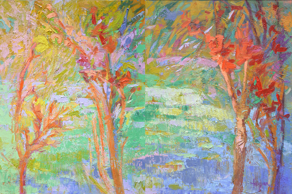 Autumn Woodlands Scene, Limited Edition Print by Dorothy Fagan