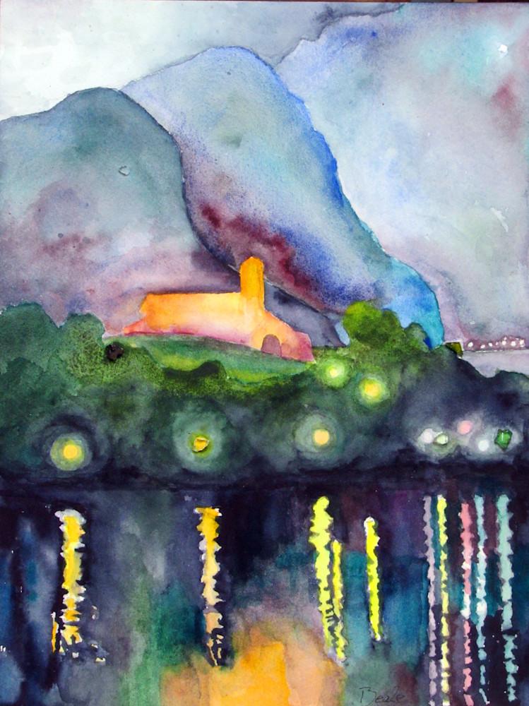 Isla Comacina Nocturne Bejeweled Art | David Beale