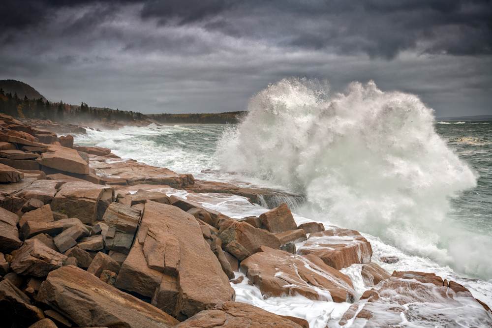 Thundering Surf in Acadia | Shop Photography by Rick Berk