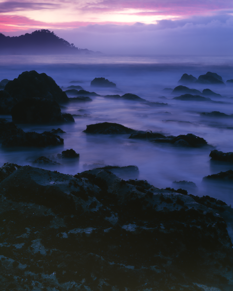 Print of Big Sur as Dusk and Tide Roll In