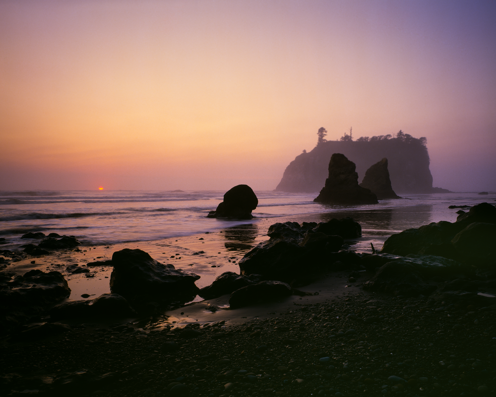Fine Art Print | Mysterious Sea Stack as Evening Descends