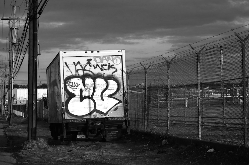 Graffitied Delivery Truck Photography Art   Peter Welch