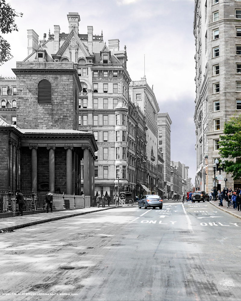 Tremont Street and King's Chapel