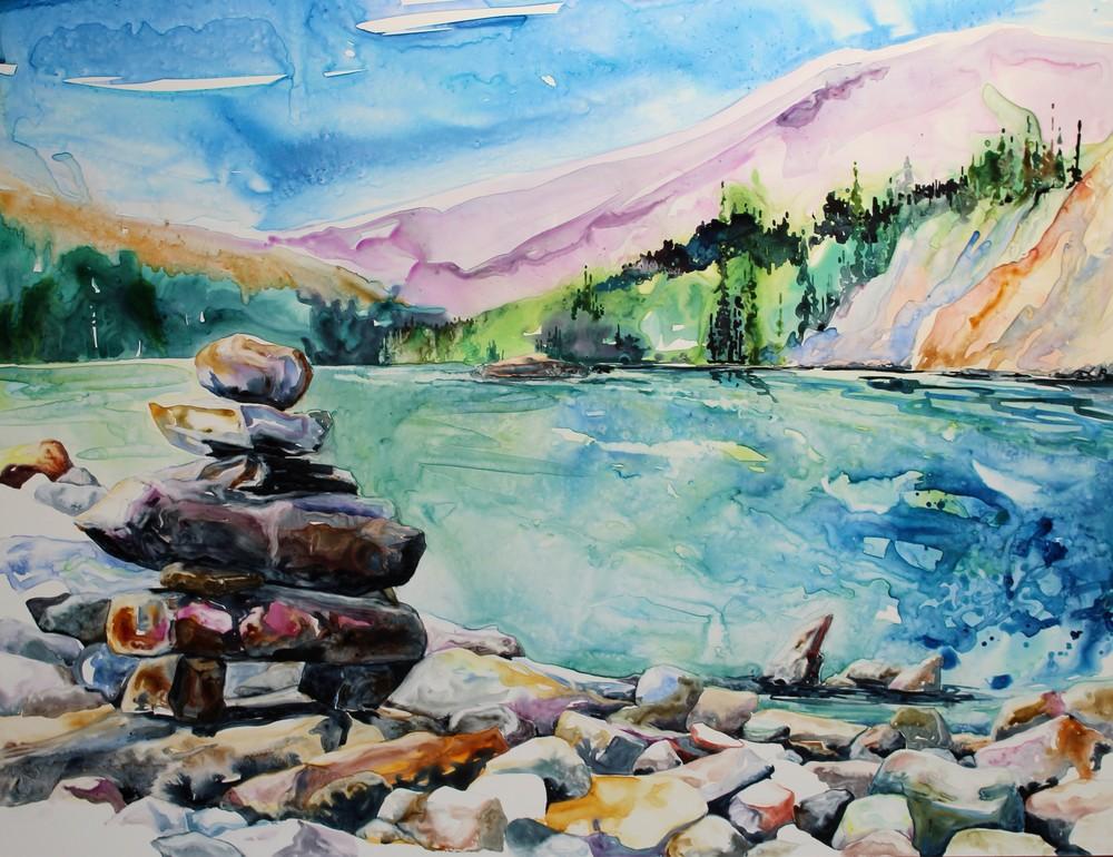 Inukshuk at Athabasca Falls