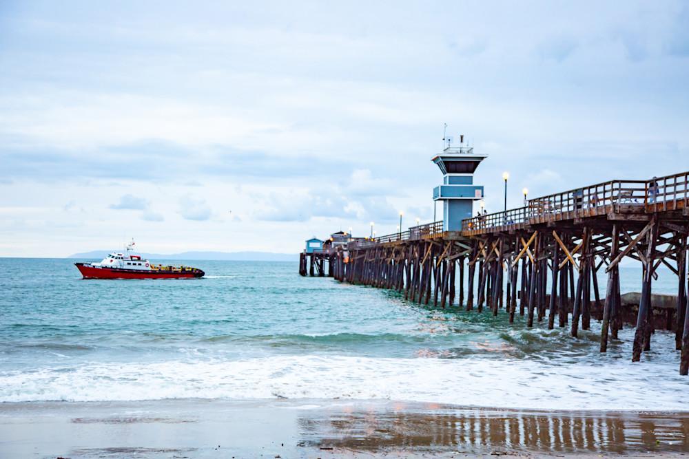Seal Beach Full Pier  Photography Art | Rosanne Nitti Fine Arts