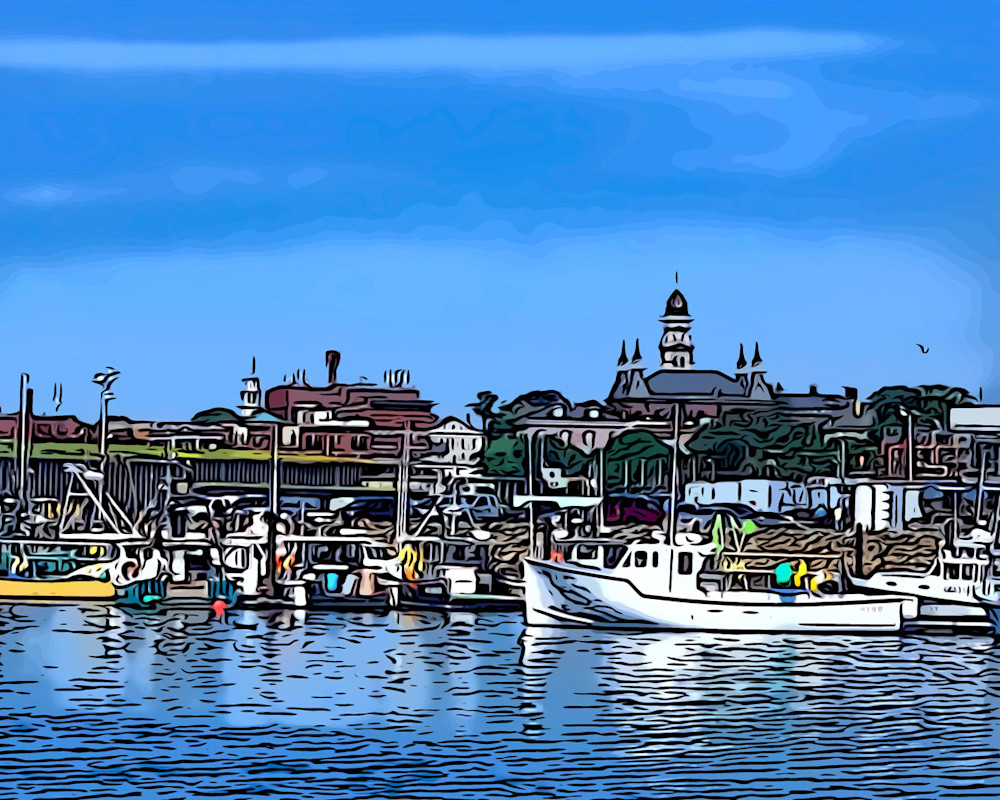 State Fish Pier Scape Art | capeanngiclee