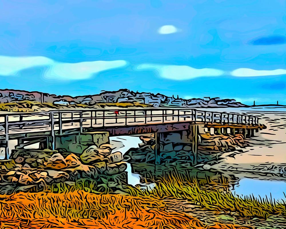 Good Harbor Footbridge2 Art | capeanngiclee