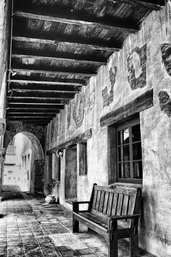 Mission San Juan Capistrano   Hallway Photography Art   Rosanne Nitti Fine Arts
