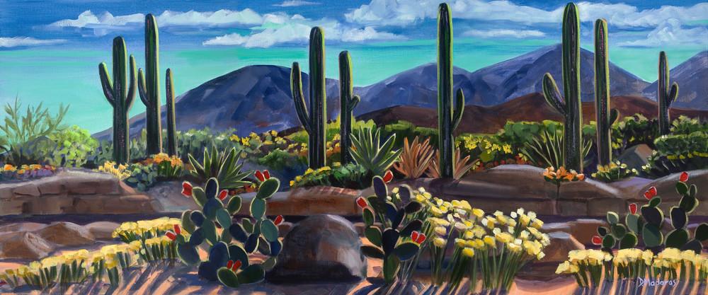 After a Good Rain Desert Panorama by Diana Madaras