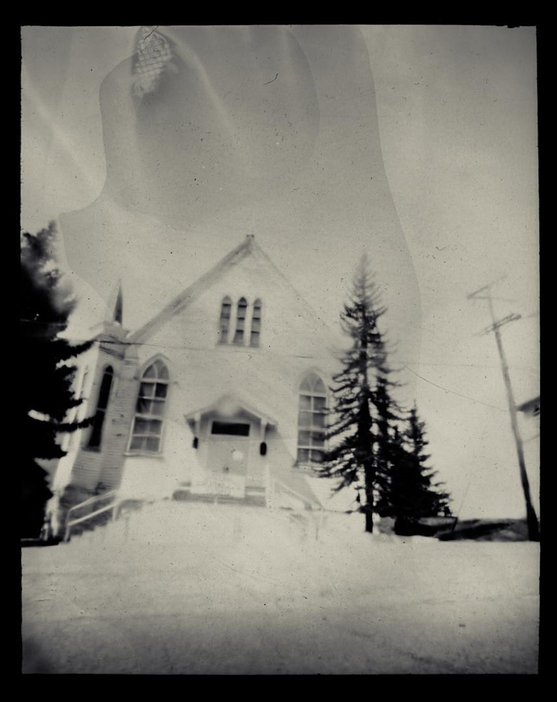 Saint Lawrence Church, Exterior (Paper Negative, 8x10 Pinhole Camera From A Sheet Of Cardboard, Lens: Broken Glass From Unknown Bottle) Art   Paper & Ink Artists