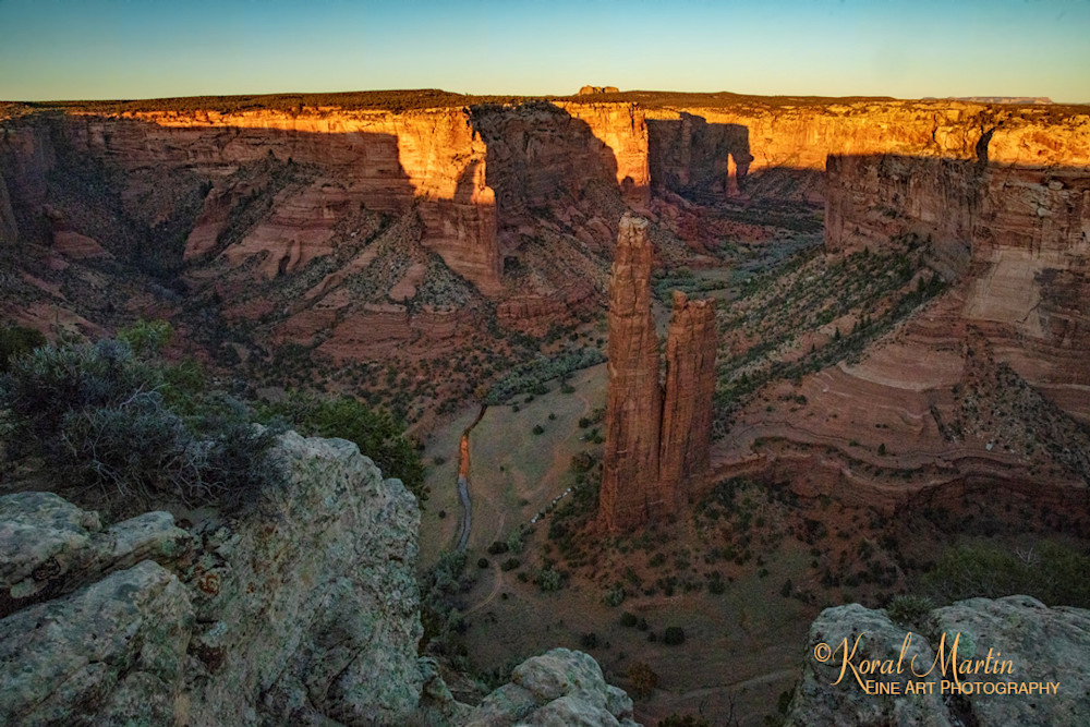Sunset at Spider Rocks Lookout Point Photograph at Canyon de Chelly 3416 | Arizona Photography | Canyon Photos | Koral Martin Fine Art Photography