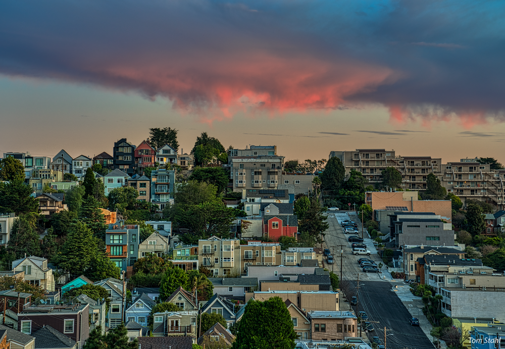 Castro Street Sunrise, 2019. Photography Art | Tom Stahl Photography