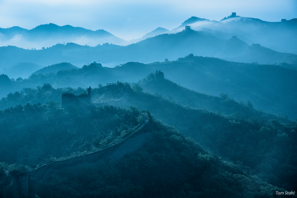 Moody Morning, Gubeikou Great Wall, China, 2017. Photography Art | Tom Stahl Photography