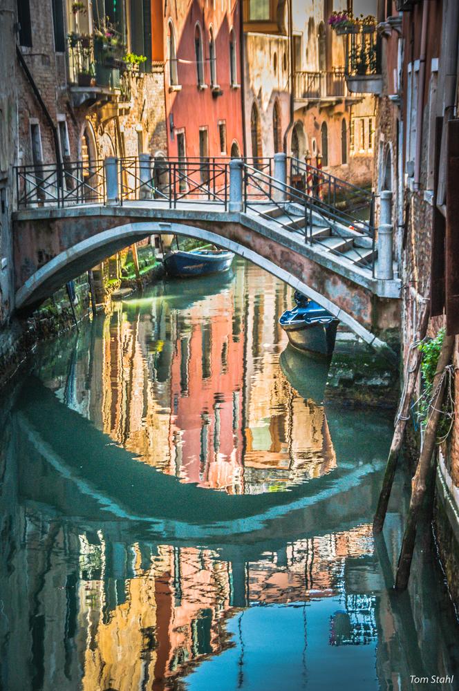 Bridge And Reflection, Venice, 2015.  Photography Art | Tom Stahl Photography