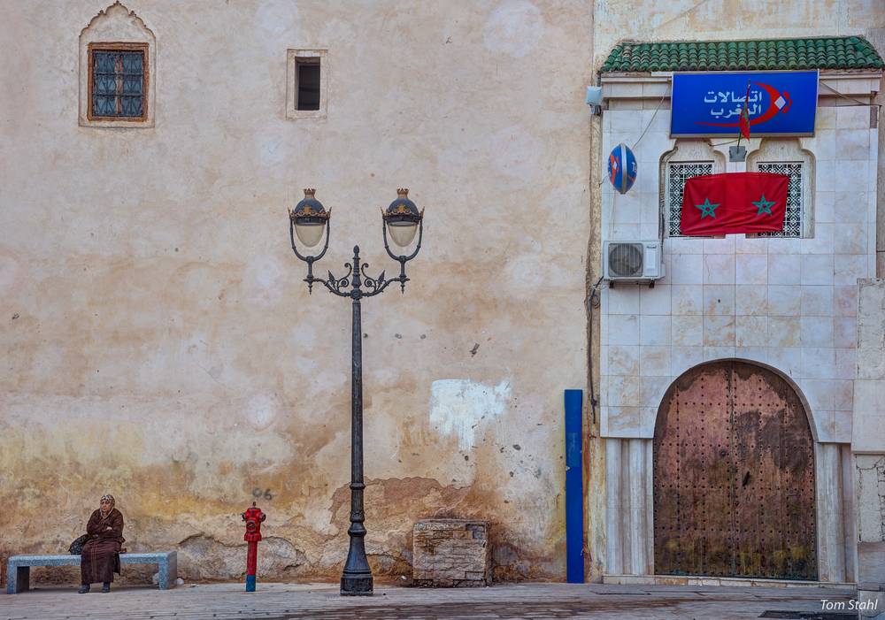 Woman In The Square, El Rcif, Fez, Morocco, 2015. Photography Art | Tom Stahl Photography
