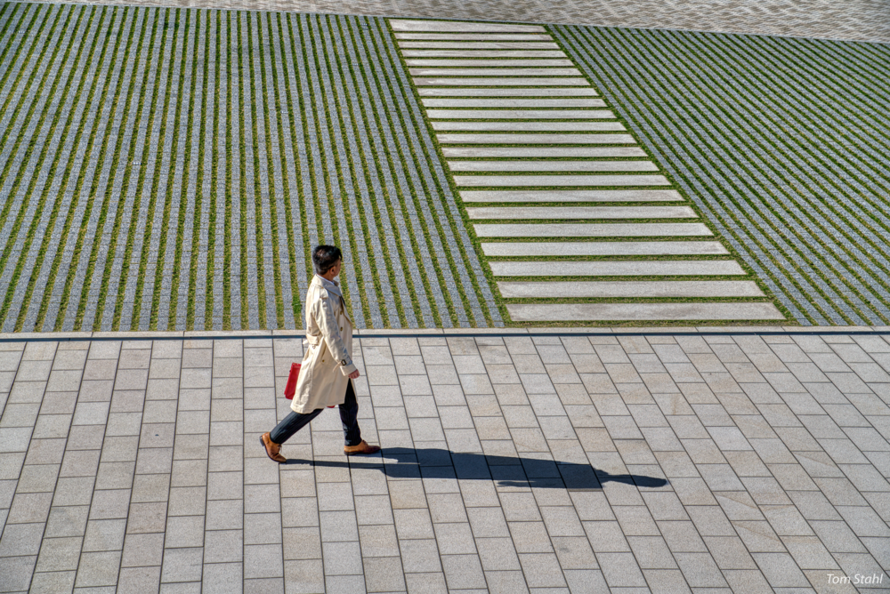 Man with red briefcase, Tokyo, Japan, 2018.