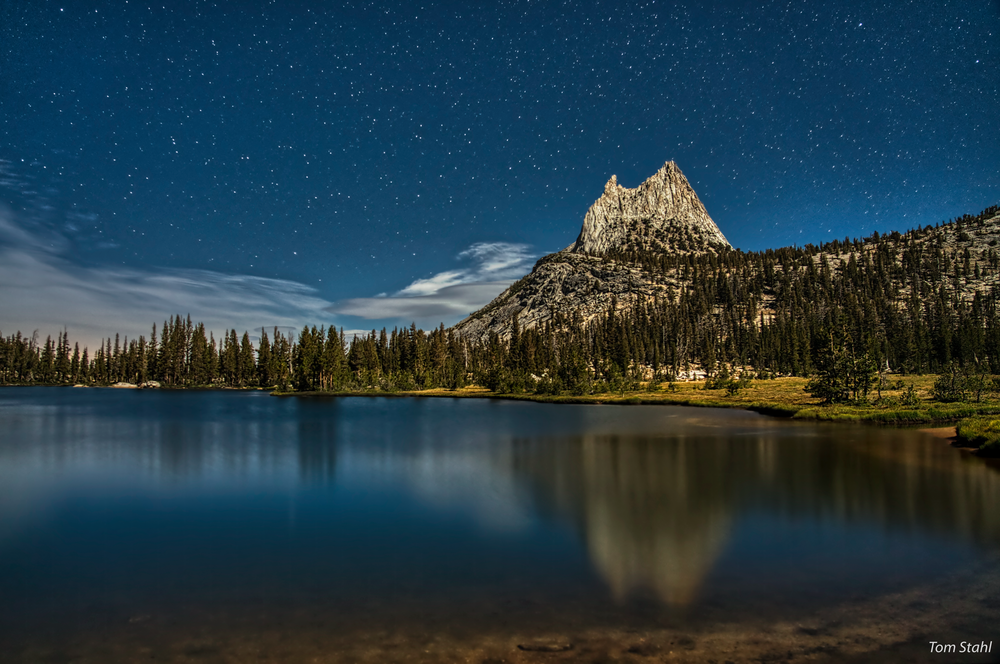 Cathedral Lake And Stars, 2019. Photography Art | Tom Stahl Photography