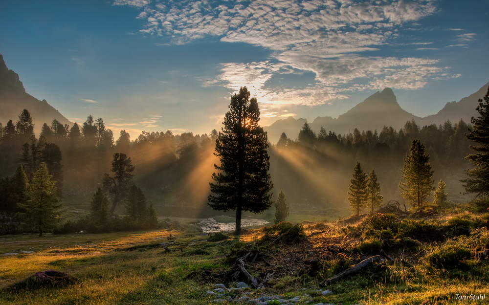 Sunrise, The Dolomites, Italy, 2015. Photography Art | Tom Stahl Photography