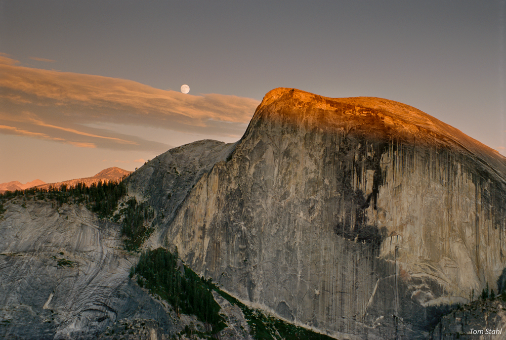 Full Moon Over Half Dome, 1992. Photography Art | Tom Stahl Photography
