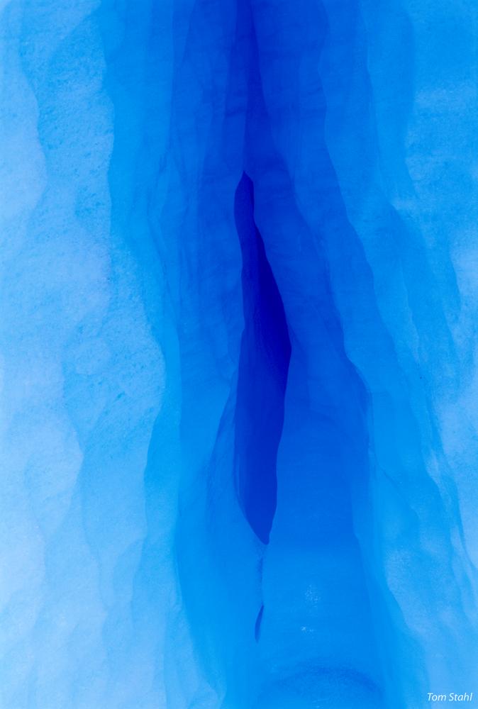 Ice Crevasse, Patagonia, 1998. Photography Art | Tom Stahl Photography