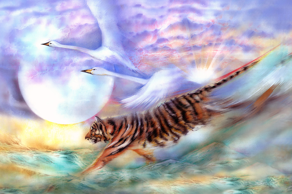 Tigerswan24x36 Art | Joan Marie Art