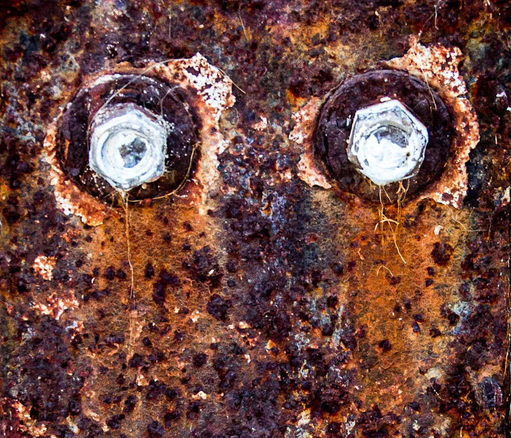 Rusted Bracket Eyes Photography Art | Dan Katz, Inc.