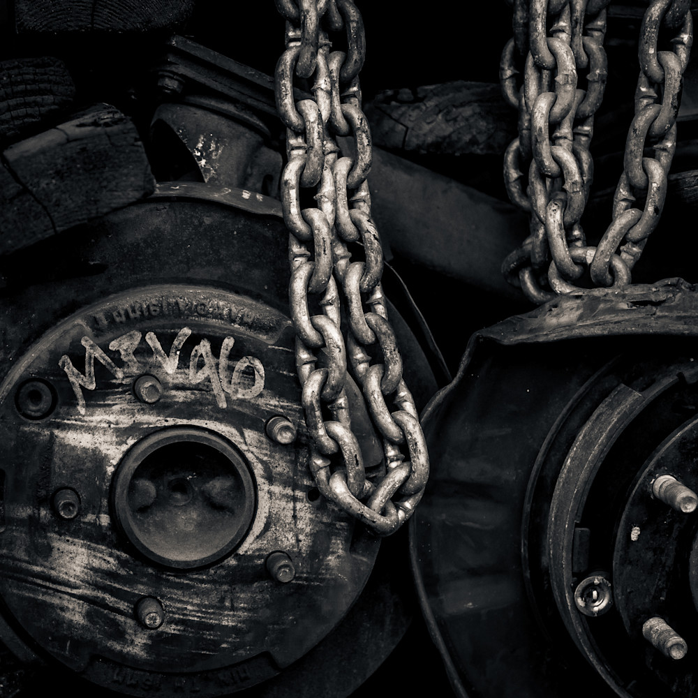 Wheels And Chains Photography Art | Dan Katz, Inc.