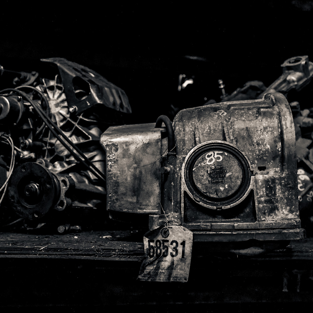 Scrap Yard Engine Block Photography Art | Dan Katz, Inc.