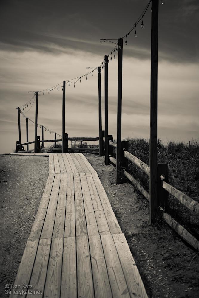 """Walkway to the Shore - Altantic City 2018"" by Dan Katz  Visit www.GalleryKatz.net #AtlanticCity #DanKatz #Monochrome #GalleryKatz #Boardwalk #CreativePhotography"