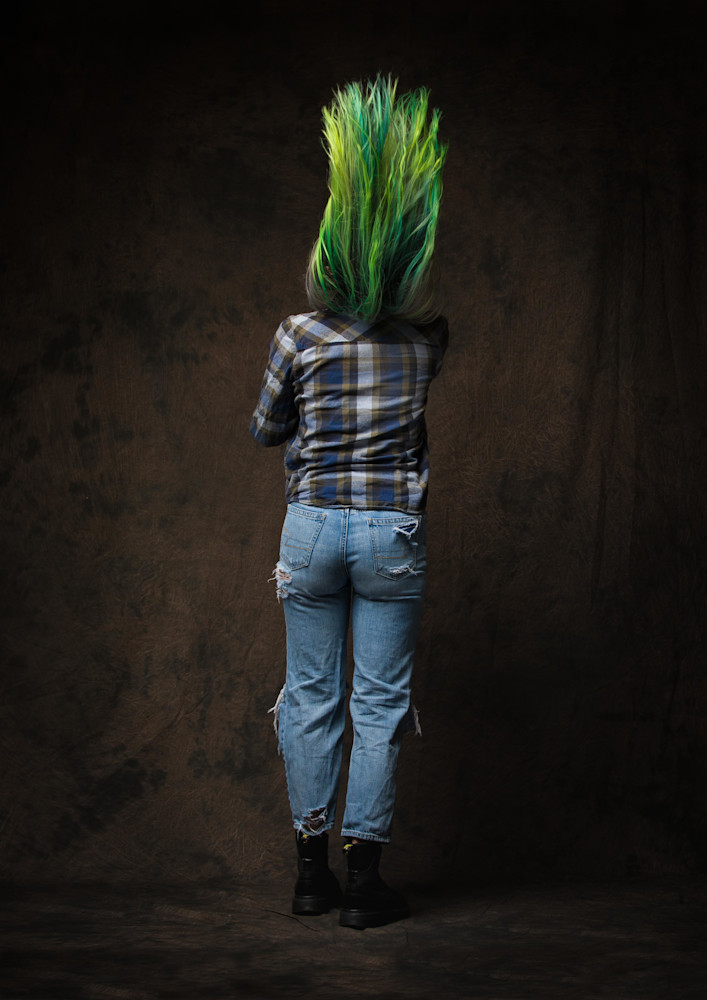 Green Hair #2 Photography Art | Dan Katz, Inc.