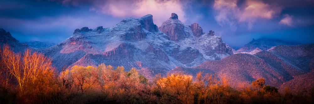 Catalinas Snow 035 Panorama Photography Art   Carol Brooks Parker Fine Art Photography