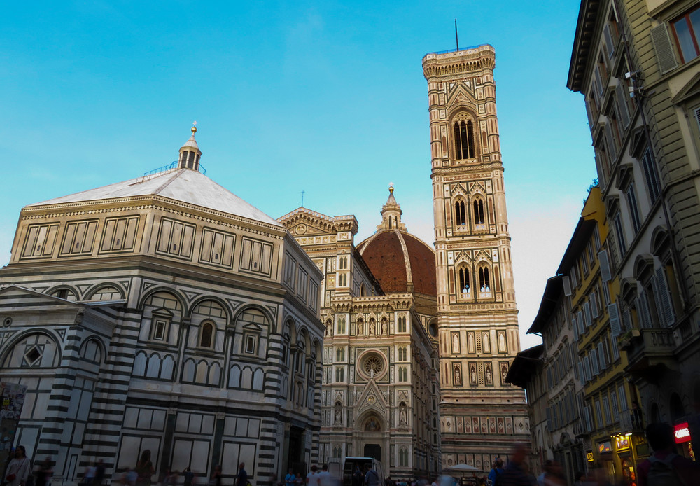 Piazza di San Giovanni In Daylight, Florence, Italy
