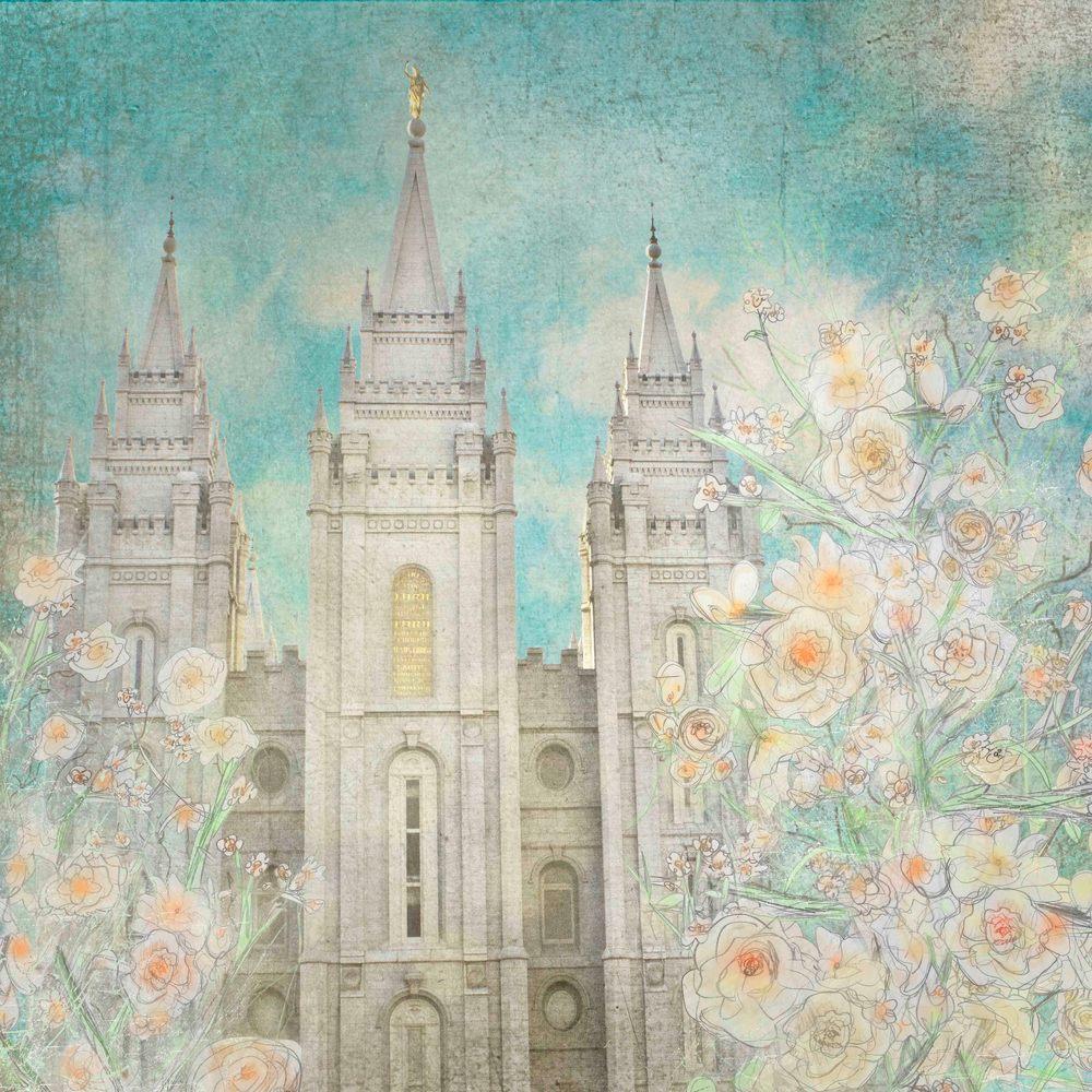 "Salt Lake Temple ""Enlightened"" Art | Mandy Jane Williams Art"