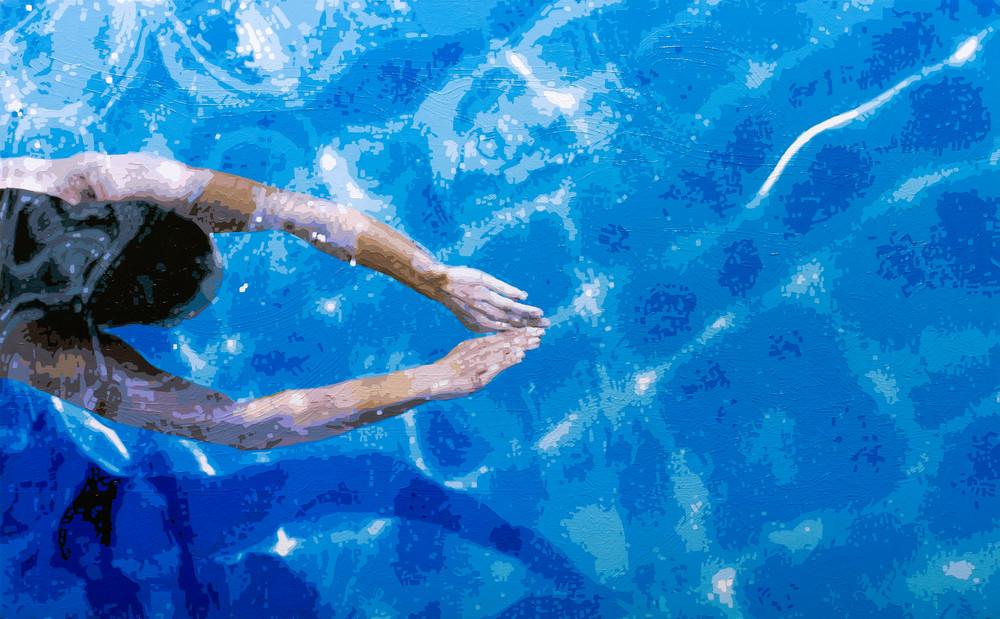 Deep Dive 48x30 2019 Toddmonk Art | Todd Monk Art