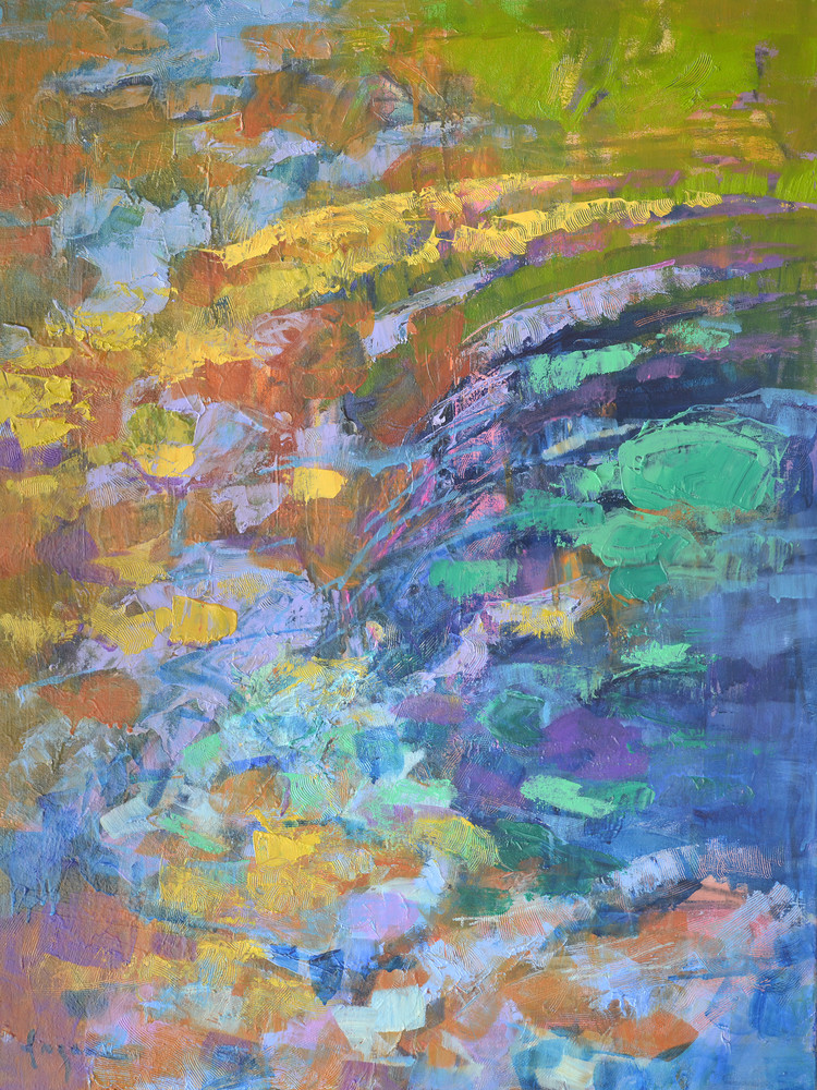 Large Abstract Water Painting, Canvas Art by Dorothy Fagan