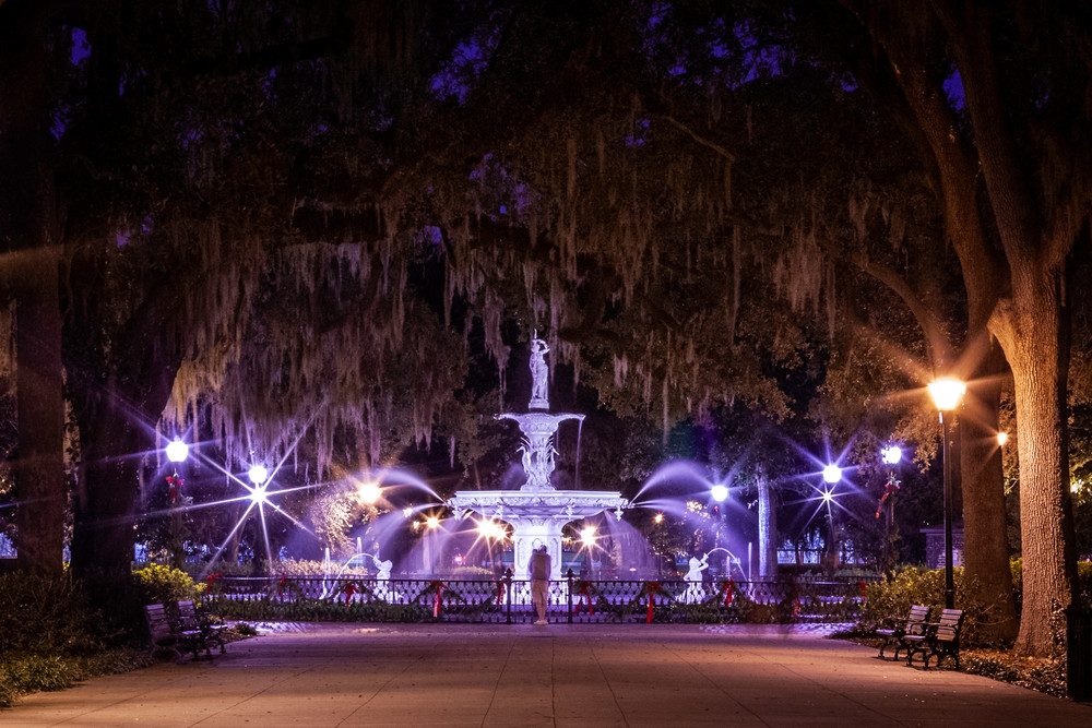 Forsyth Fountain at Night 2