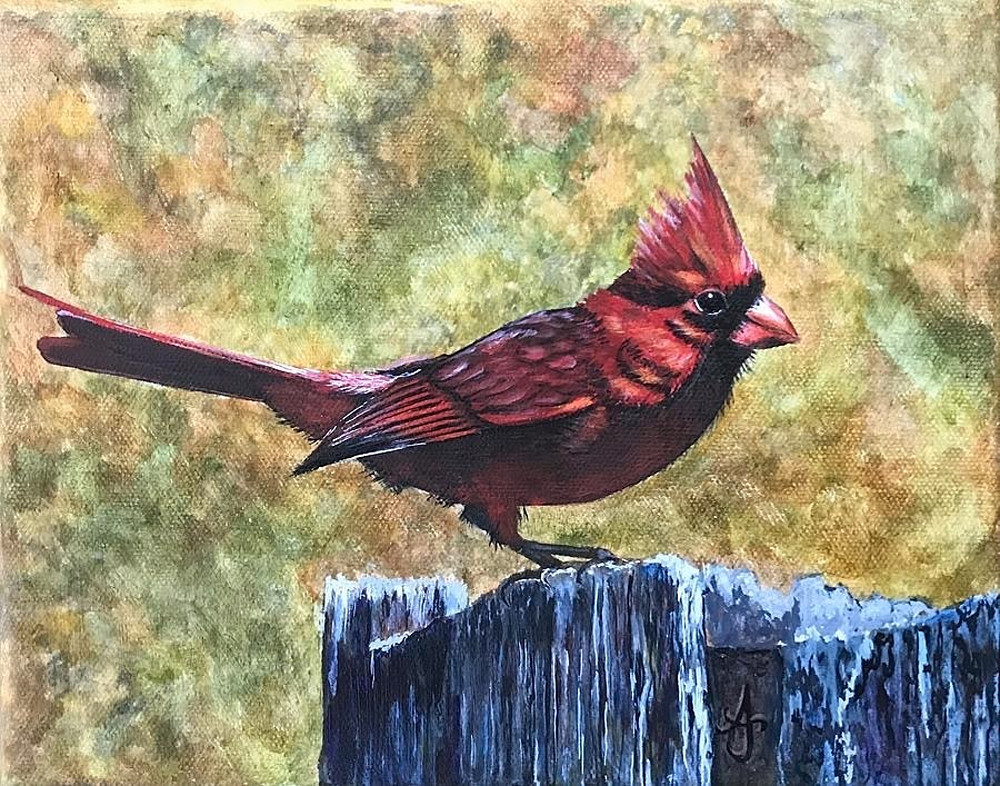Little Red Bird Art | alanajudahart