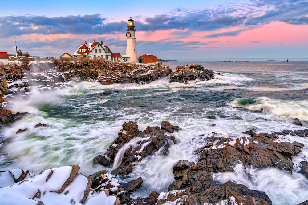 Winter Sunset at Portland Head | Shop Photography by Rick Berk